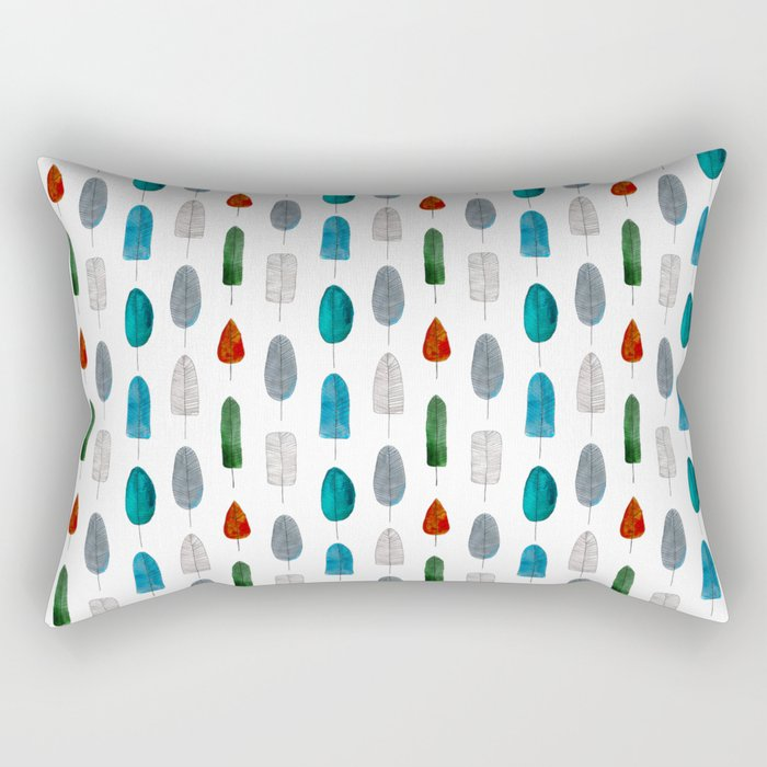 Leafs pattern Rectangular Pillow