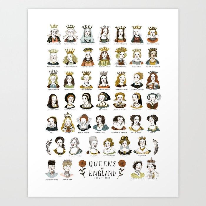 Queens of England Art Print