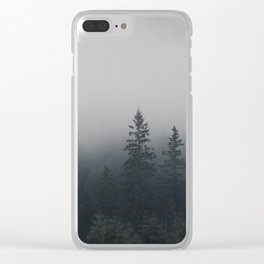 Northwestern misty forest Clear iPhone Case