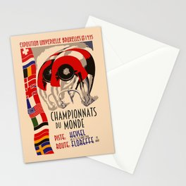 Retro cycling world championships 1935 Brussels Stationery Cards