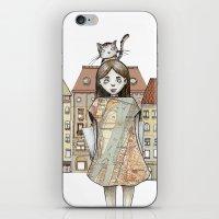 budapest iPhone & iPod Skins featuring Budapest by Bari Zsidek