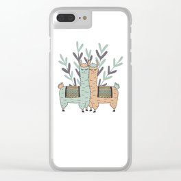Llama Love Clear iPhone Case