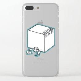 Writer's Block Clear iPhone Case
