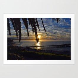Palm Tree Sunrise Art Print