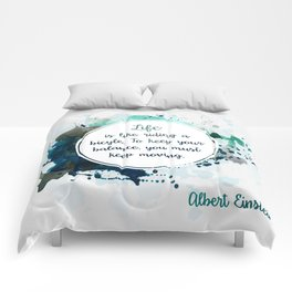 Albert Einstein's quote Comforters