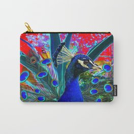 RED & BLUE PEACOCK FANTASY ART Carry-All Pouch
