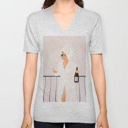 Morning Wine II Unisex V-Neck