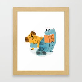 WORLD BOOK DAY Framed Art Print
