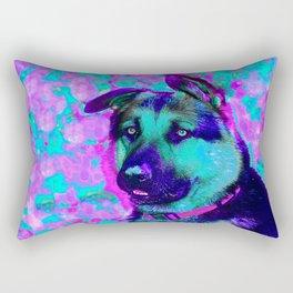 Artistic Dog Expression Rectangular Pillow
