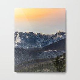 Sunset on the Rock(ies) Metal Print