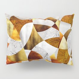 Curves - Silver and Gold Pillow Sham