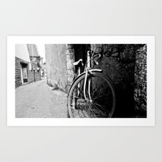 bicycle. vélo. Art Print