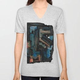 Bejewelled Modern Abstract Cubism Unisex V-Neck