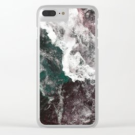 Abstract Sea, Water Clear iPhone Case