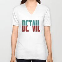devil V-neck T-shirts featuring Devil in the detail. by David