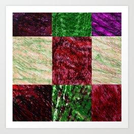 Patchwork color gradient and texture 2 Art Print