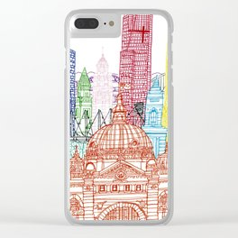 Melbourne Towers Clear iPhone Case
