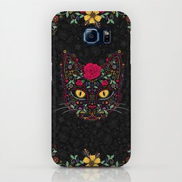 Day of the Dead Kitty Cat Sugar Skull iPhone Case