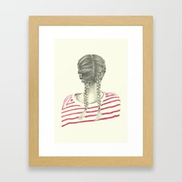 French braids 02 Framed Art Print