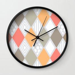 arlequin pattern Wall Clock