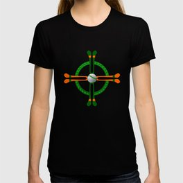 Hurley and Ball Celtic Cross Design - Solid colour background T-shirt