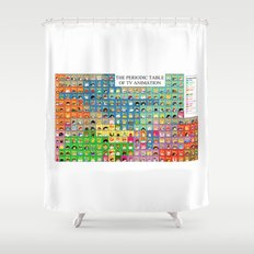 The Periodic Table of TV Animation Shower Curtain