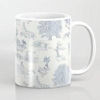 tolkien Mugs featuring Shire Toile by Jackie Sullivan