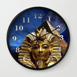 King Tut and Pyramid Wall Clock