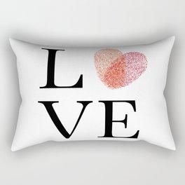 Love with fingerprint heart Rectangular Pillow