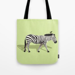 Zebra and Friend Tote Bag