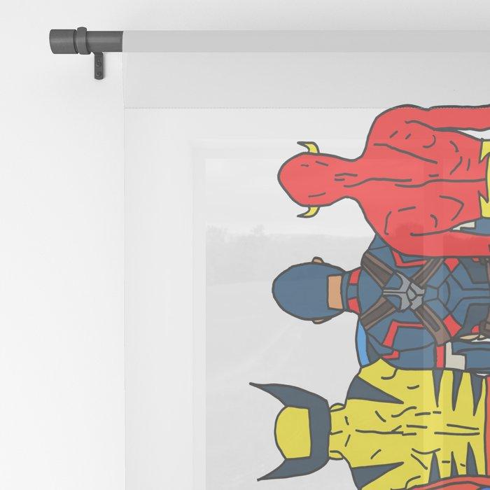 Superhero Butts Sheer Curtain