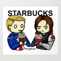 stucky Art Prints featuring Stucky by ShockingBlankets