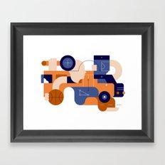 Schoolbus Framed Art Print