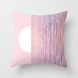 Pink on the Sea Throw Pillow