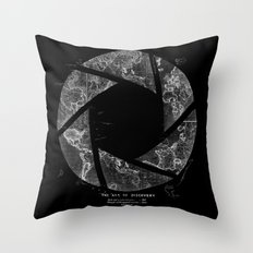Traveling Lens Throw Pillow