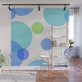 Blue Circles Wall Mural