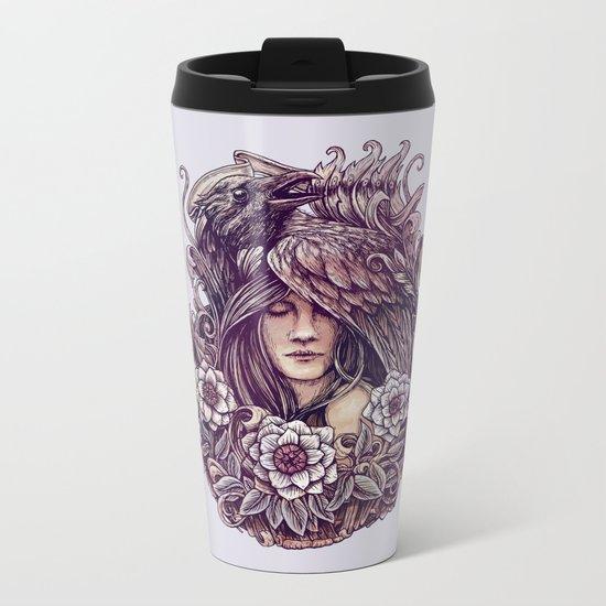 Crow Metal Travel Mug