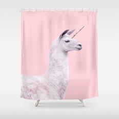 UNICORN LLAMA Shower Curtain