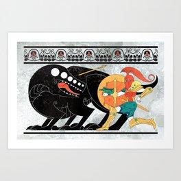 Hero from the Stars Art Print