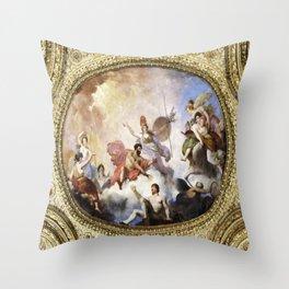 Fresco on Ceiling in Paris Throw Pillow