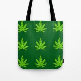 Slime Cannabis Pattern Tote Bag