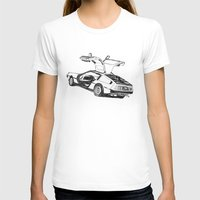 delorean T-shirts featuring DELOREAN by carolin walch