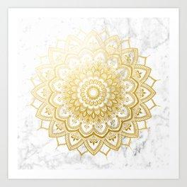 Pleasure Gold Art Print