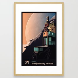 Interplanetary arrivals. Gate 2. Framed Art Print