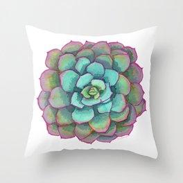 Sunset Succulent Throw Pillow