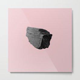 Pink Boulder Metal Print