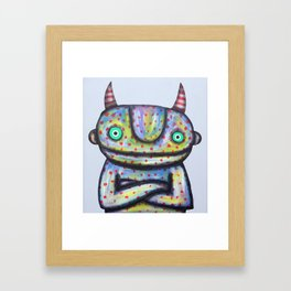 Devil with Good Intentions Framed Art Print