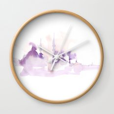 Watercolor landscape illustration_Istanbul Wall Clock