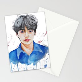 Taehyung watercolor Stationery Cards