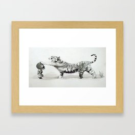 Wind & Tiger Framed Art Print